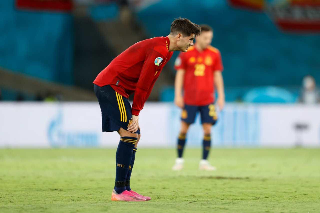 Spagna, Alvaro Morata delude