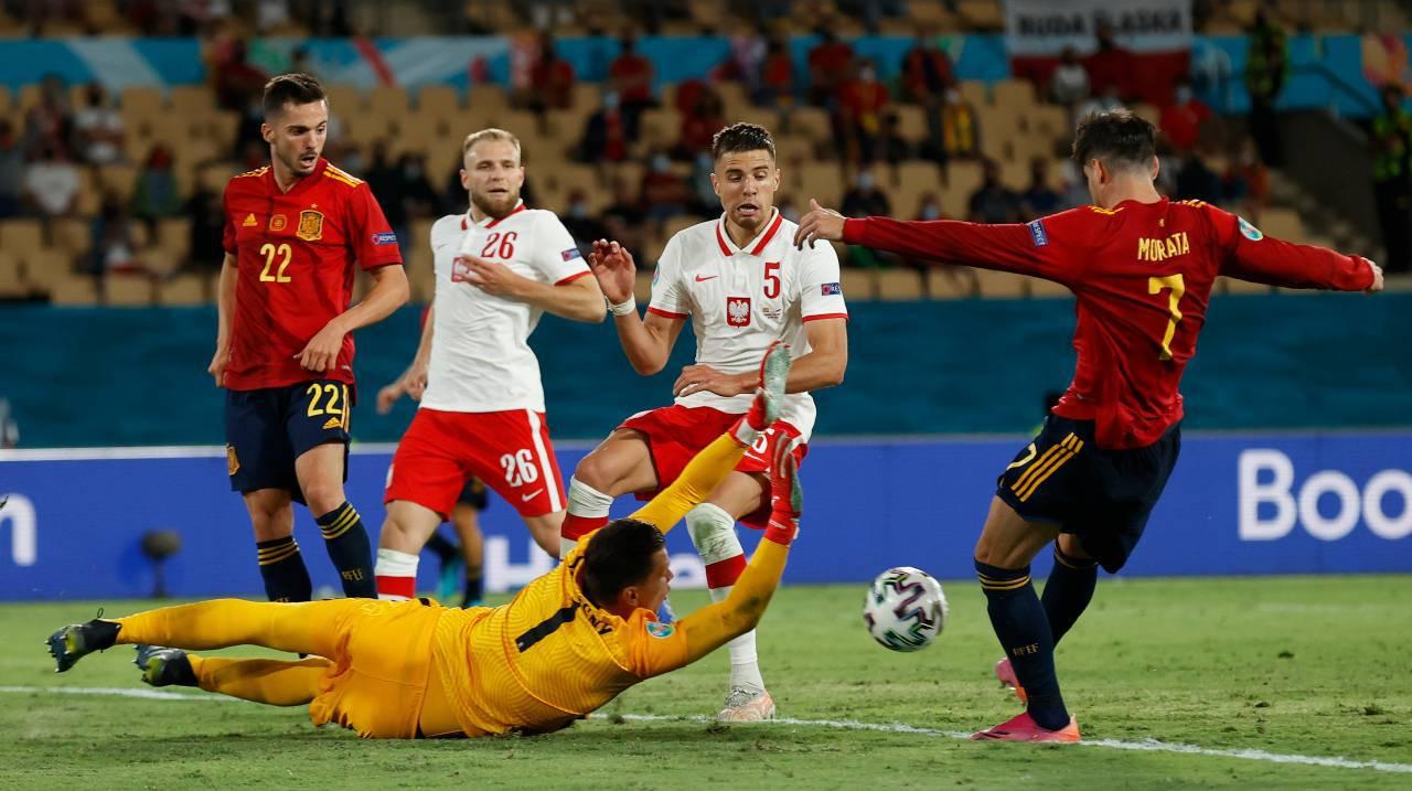 Euro 2020, Spagna-Polonia 1-1: Morata non basta, super Lewandowski