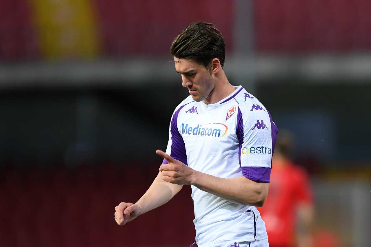 Inter Lautaro Fiorentina Vlahovic