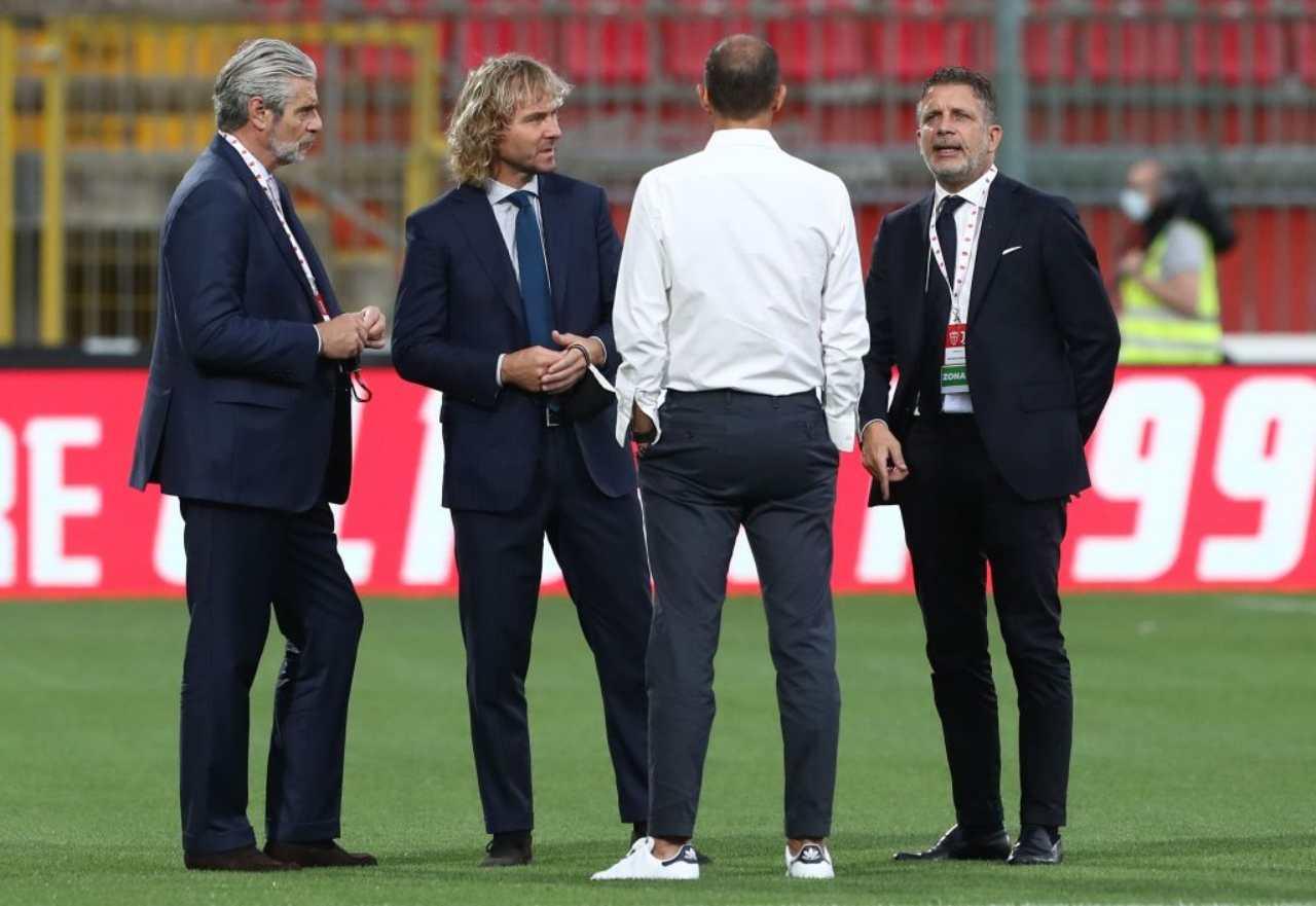 Juventus, la dirigenza con Allegri