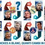 Foto – E' rivoluzione su tante panchine europee: ecco tutti i cambi di allenatore!
