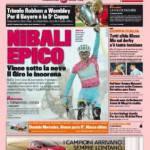 Gazzetta dello Sport: trionfo Robben a Wembley