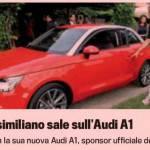 Milan, che sorpresa per Allegri: Audi A1 rossa – Foto