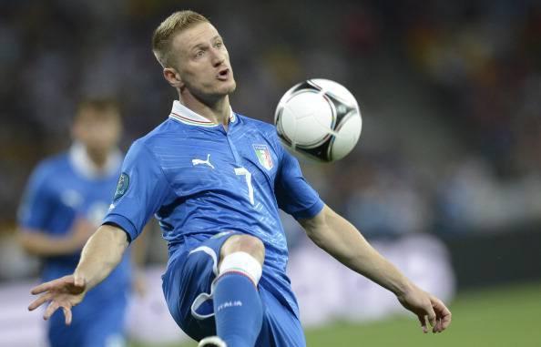 Italian defender Ignazio Abate controls
