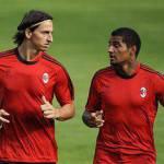 Champions Milan-Auxerre: bene Ibra e Dinho, ma la sorpresa è Boateng!