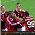 Malore Cassano, il Milan e Boateng omaggiano FantAntonio contro il Bate – Foto