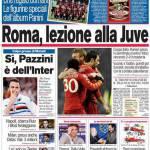 Corriere dello Sport: la Roma dà una lezione di calcio alla Juve