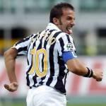 Calciomercato Juventus, Rinnovo Del Piero: da Facebook la conferma