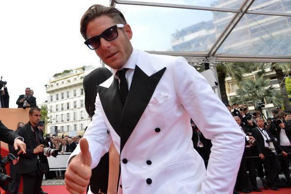 Italian businessman Lapo Elkann gestures