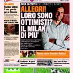 Gazzetta dello Sport, Allegri: loro sono ottimisti? Noi di più