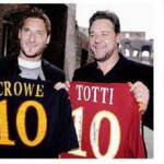 Totti con Russel Crowe, due gladiatori all'assalto dell'Inter – Foto