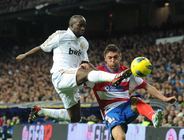 Real Madrid's French midfielder Lassana