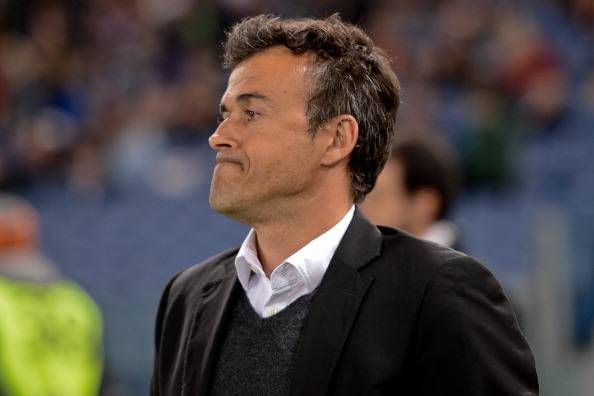 AS Roma's Spanish coach Luis Enrique ges