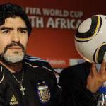 """Mondiali 2010, Maradona: """"Quello di Luis Fabiano era il Braccio di Dio"""""""