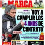 """Marca, Mourinho: """"Voglio rispettare i quattro anni di contratto"""""""
