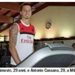 Milan, Ibrahimovic si presenta con un nuovo look a Milanello – Foto