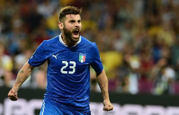 Italian midfielder Antonio Nocerino cele
