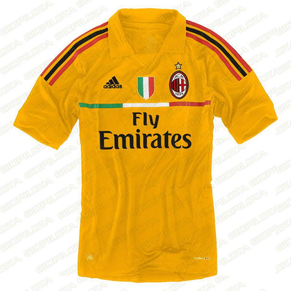 Terza maglia Milan gialla Terza maglia Milan gialla 2012 2013: potrebbe essere così?   Foto