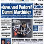 """Tuttosport: """"Juve vuoi Pastore? Dammi Marchisio"""""""