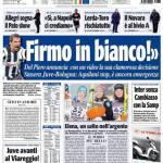 Tuttosport, Del Piero: firmo in bianco!