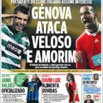 A Bola: Genoa all'attacco di Veloso e Amorim