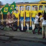In Brasile un murales che fa il verso ad Adriano – Foto