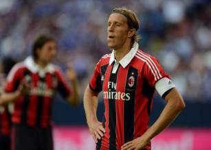 AC Milans Massimo Ambrosini looks on dur