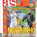 As: Mourinho motiva la sconfitta