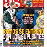 As: Ramos si è allenato con i sostituti
