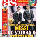 As: Messi non voterà Ronaldo