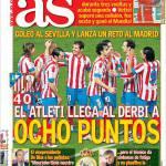 As: L'Atletico arriva al derby a otto punti