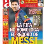 As: La Fifa non omologa il record di Messi