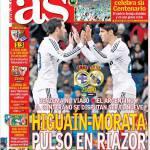 As: Higuain-Morata, duello al Riazor