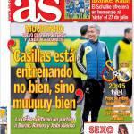 """As: """"Casillas non si sta allenando bene, ma molto bene"""""""