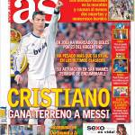 As: Cristiano Ronaldo guadagna terreno su Messi