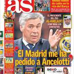 "As: ""Il Real Madrid mi ha chiesto Ancelotti"""