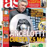 As: Ancelotti costa 7,5 milioni di euro