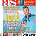 As: Jesé numeri da Maradona e Messi
