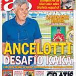 As: Ancelotti sfida Kakà
