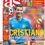 As: Cristiano 204 partite, 206 gol