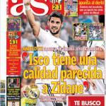 """As: """"Isco tiene una qualità simile a Zidane"""""""