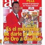 """As: """"E' il momento giusto per dare il Pallone d'Oro a Casillas"""""""