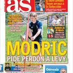 As: Modric chiede perdono a Levy