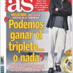 """As: Mourinho """"Possiamo vincere il triplete…o niente"""""""