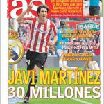 As: Javi Martinez per 30 milioni di euro