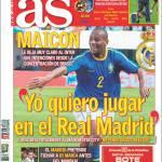 """As: Maicon """"Io voglio giocare nel Real Madrid"""""""