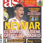 As: Neymar, il Santos ha già l'offerta del Real Madrid