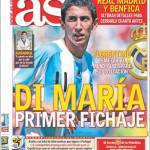 As: Di Maria primo acquisto