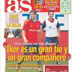 "As: Xavi ""Casillas è un grande compagno"""