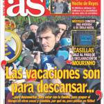 "As: Casillas ""Le vacanze servono per riposare"""